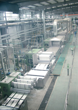 polyester staple fibre production line